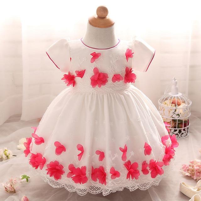 5f1c1eb05df5 Flower Baby Girl Dress Wedding for Kids 1 year Birthday Dresses Baptism  Newborn Girls Clothing infant