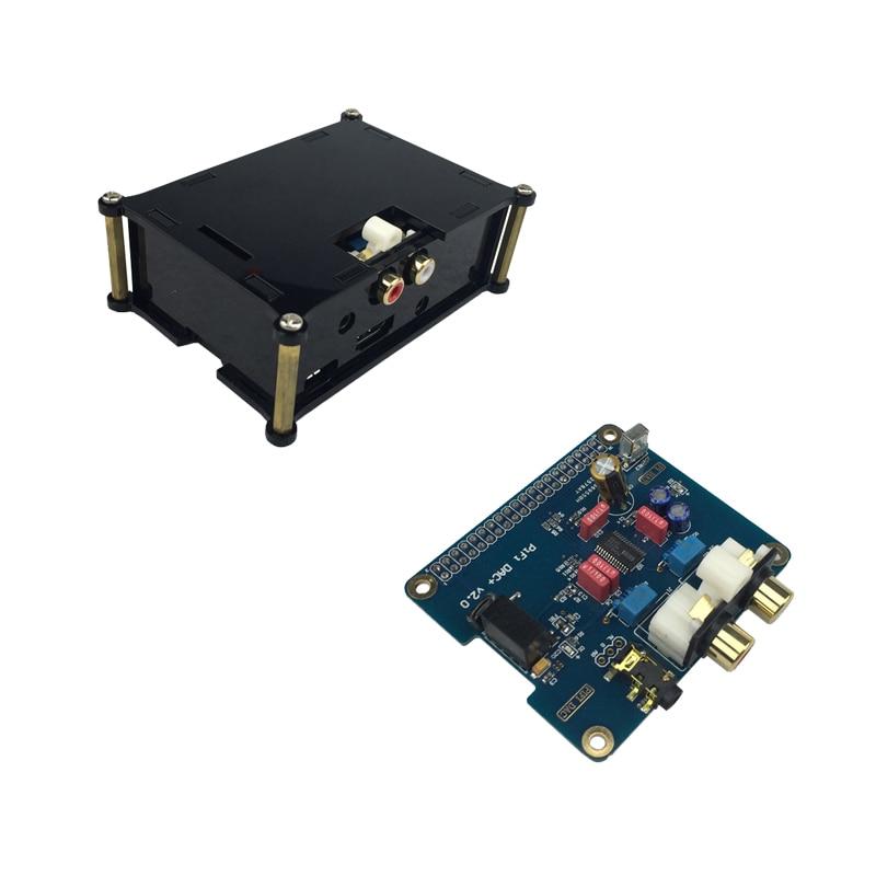 Raspberry Pi 3 Model B+ HIFI Analog Sound Card PiFi DAC+ V2.0 Audio Board I2S Interface + Acrylic Case For Raspberry Pi 3/2