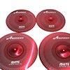 "Aborea - Red Color Low volume cymbal set - 14""hihat+16""crash+18""crash+20""ride"