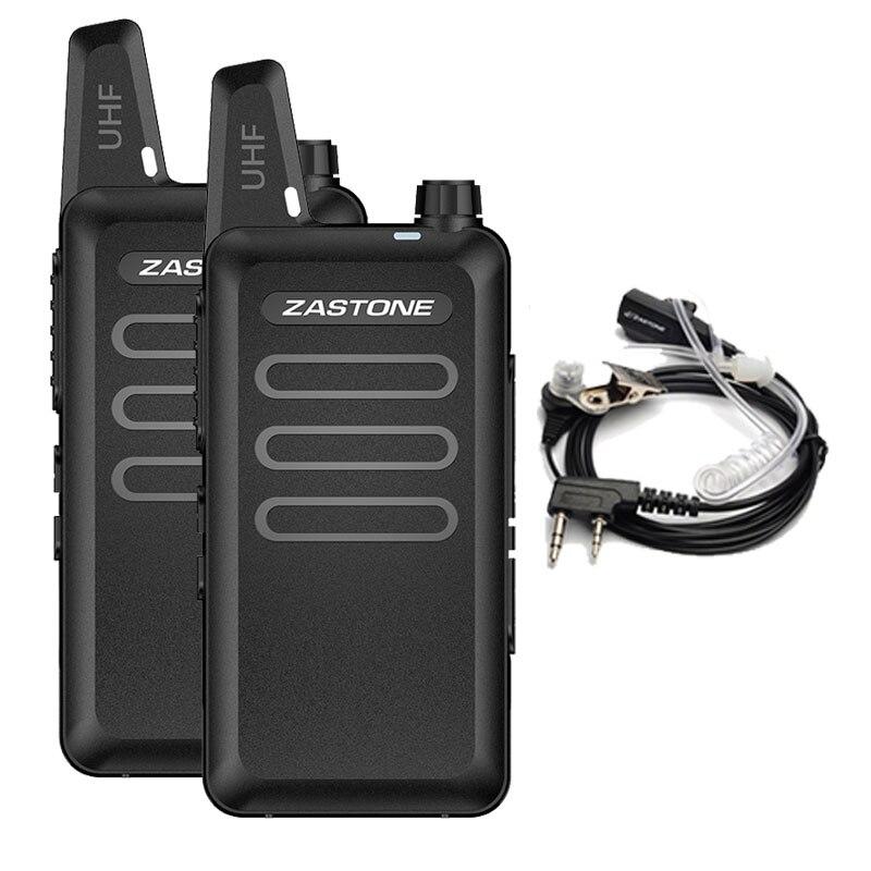 Zastone X6 Mini Walkie Talkie Paar Headset UHF 400-470 mhz Frequenz Tragbare Handheld Radio Comunicador Zwei-Weg amateur Radio