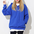 New Korean Style 2017 December Loose Letter Embroidery Hooded Hoodie Long Sleeved Tops Oversized Street Sweatshirts Pullovers