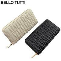 BELLO TUTTI Women Wallets Long PU Leather Wallet Female Zipper Clutch Coin Purse Ladies Capacity Fashion