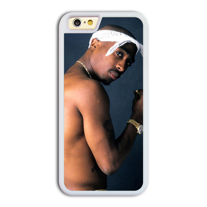premium selection ef9d0 79f25 US $9.99 |Tupac Shakur 2Pac cool design #7 mobile phone battery case cover  for iphone 6 cases covers TPU phone cases silicon phone cases on ...