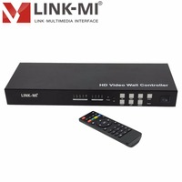 LM VW02 2x2 Video Wall Controller 3x3 4x4 Max 10x10 Support 180 Degree Rotation IR RS232