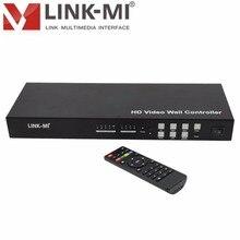 LM-VW02 2x2 controlador de pared de vídeo 3x3 4x4 MAX 10x10 180 grados rotación, ir, RS232 control USB, VGA, AV, HDMI DVI compatibles