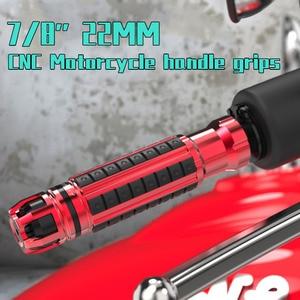 Image 1 - 7/8 22 MILLIMETRI CNC Motorcycle Handle grips Universale presa di manubrio Per Yamaha Honda KTM Ducati Suzuki Kawasaki Moto manubrio