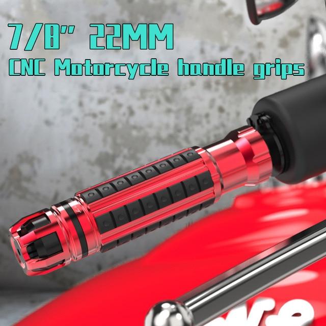 7/8 22 MILLIMETRI CNC Motorcycle Handle grips Universale presa di manubrio Per Yamaha Honda KTM Ducati Suzuki Kawasaki Moto manubrio