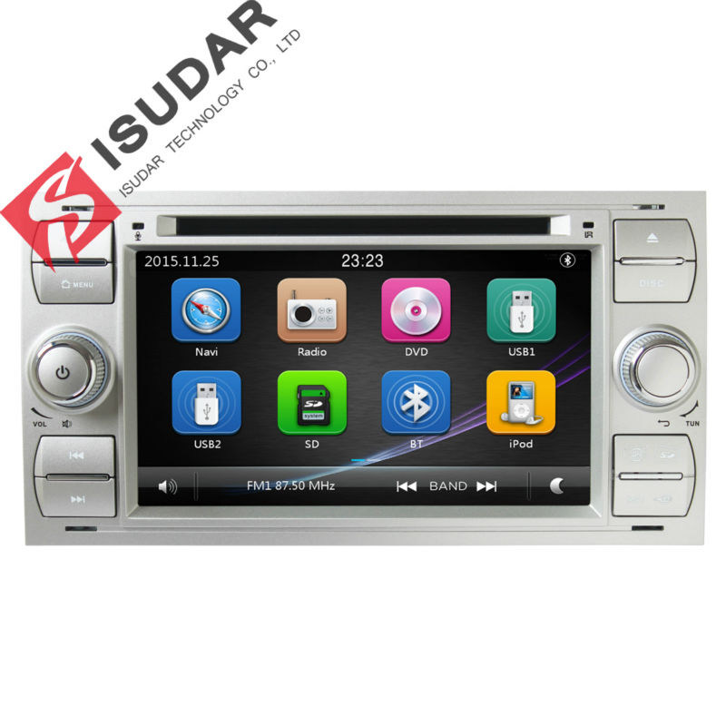 Isudar Car Multimedia Player GPS 2 Din Autoradio For Ford/Focus/Mondeo/Transit/C-MAX/Fiest BT 1080P Ipod Radio FM Canbus DVR