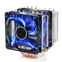 For Intel AMD Dawlish 6 Heatpipe Computer Cpu Heatsink Desktop Cpu Fan Quieten 1150 1155