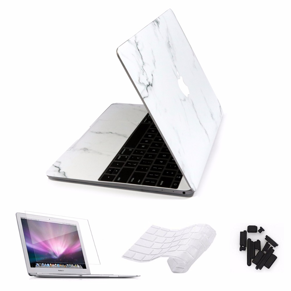 Marble Laptop Sticker For Macbook Air/pro 11 12 13 15 Retina Skin Pro 13/15inch Touch Bar Cases with Keyboard Cover 4 in 1 Set