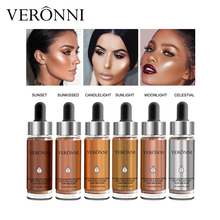 VERONNI Liquid Highlighter Contouring Make Up Natural Glow Enhancer Highlighting Lotion Brighten Shimmer 3D Highlighters 15ml