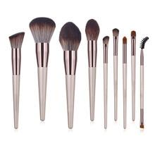 9 Pcs Professional Makeup Brushes Set Eyeshadow Blending Wooden Brush Foundation Pinceaux Blush beauty tools
