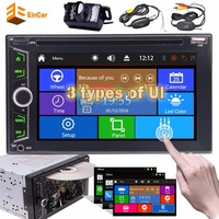 Backup camera+Car Stereo Bluetooth 2 Din Radio Multimedia Player Touch Screen DVD CD Head Unit Support Subwoofer AUX SD/USB
