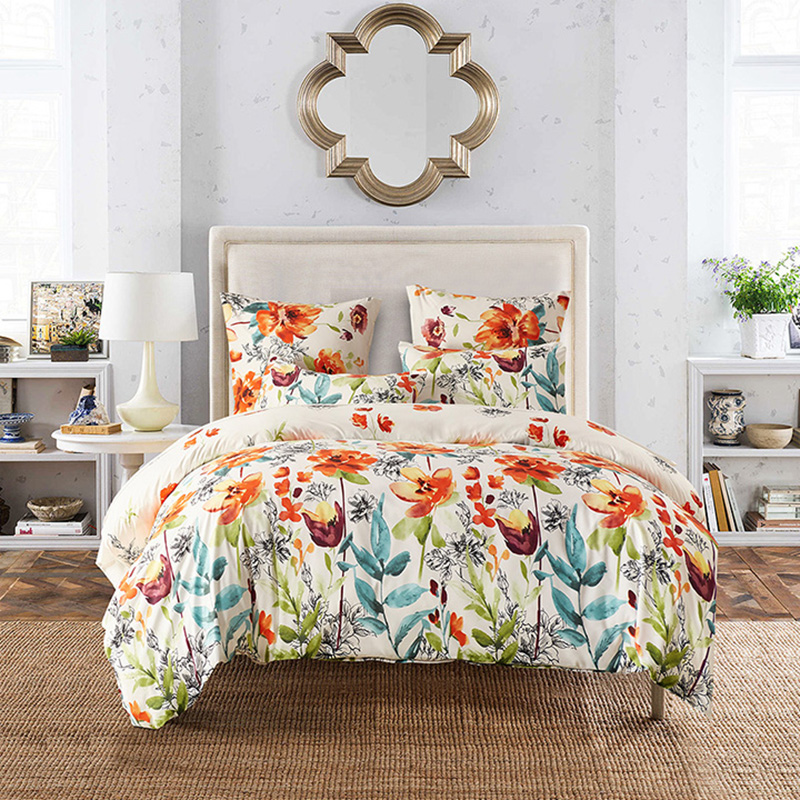 2017 flowers printed twin queen king size boho palace bedding set duvet cover bed sheet bed. Black Bedroom Furniture Sets. Home Design Ideas