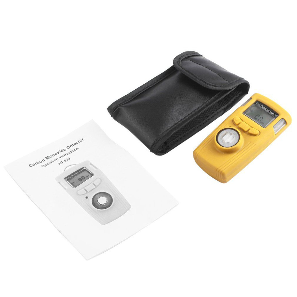Current leak detection carbon monoxide detector gas co tester Mini LCD Alarm Electrical Combustible Detecting High Accuracy HT-5 handheld gas detector alarm portable oxygen detector co concentration carbon monoxide monitor 0 999 ppm co gas analyzer meter