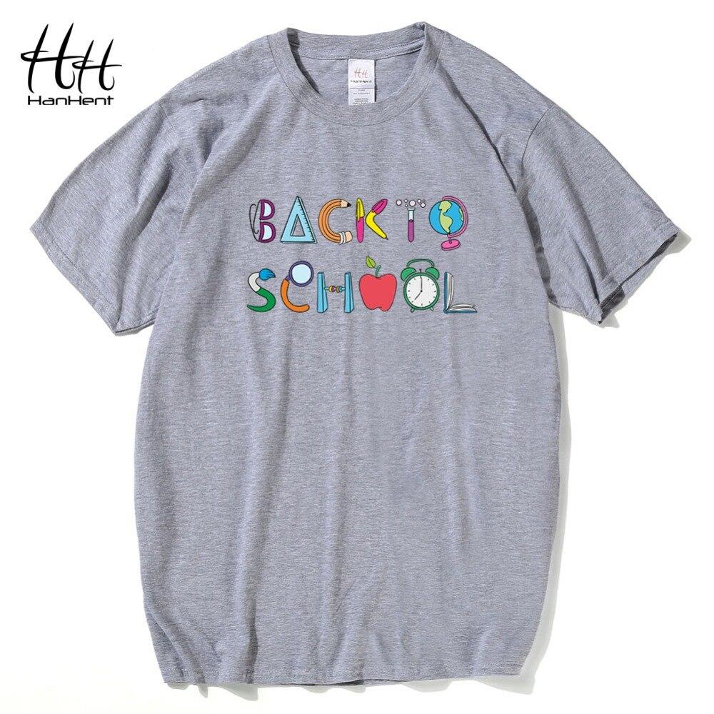 Design t shirt school - Hanhent Mens T Shirts Fashion Creative Back To School Printing Casual T Shirt College Men Birthday