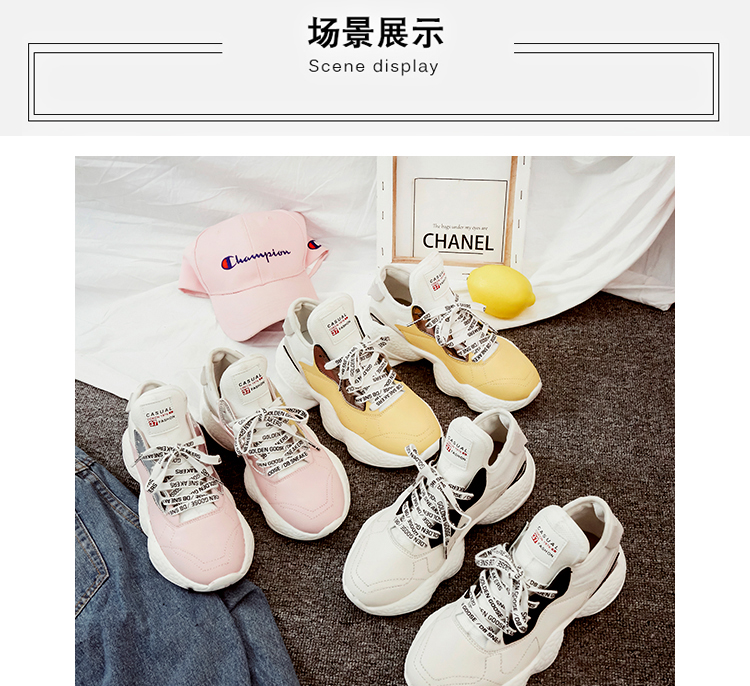 384513eb5990 This is the best gift you can give yourself (your friend). High Quality  Women Casual Shoes Wide Platform Heels Trainers Flats. 2018 Cute Lace Up  Tenis ...