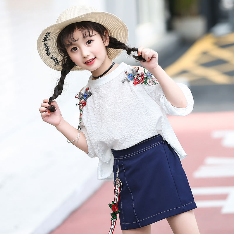 e203cec7 Children's Garment Girl Summer Wear Suit 2017 New Pattern Children Korean  Summer Clothes Princess 2 Pieces Kids Clothing Sets-in Clothing Sets from  Mother ...