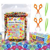 Party Favors Gift Water Beads Toy Set Non-Toxic Baby Shower Sensory Toy for Kids Birthday 10000 Beads with 2 Scoops and Tweezers