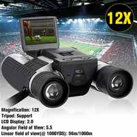 1080p 5MP 12X HD LCD Screen Digital Camera Telescope Binoculars Photo Camera Video 96m/1000m COMS USB Sensor Recording