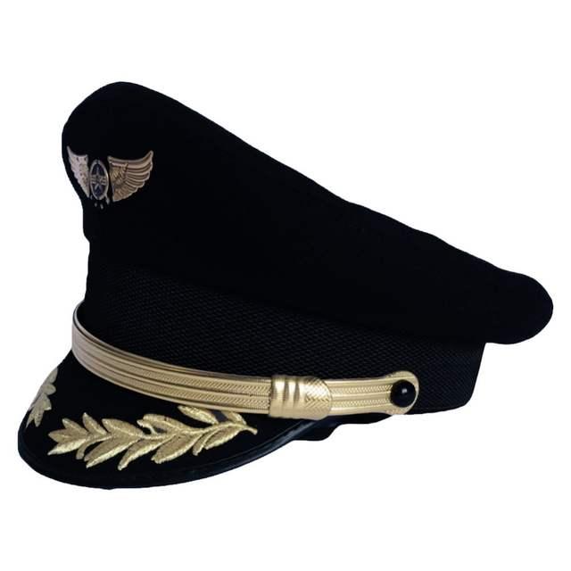 bd78a79b167ed Online Shop Wool Caps Military Hats Pilot Cap Men Navy Cap Airline Captain  Hat Uniform Officer Hat Sailor Wheat Hats Caps Boys Ver.
