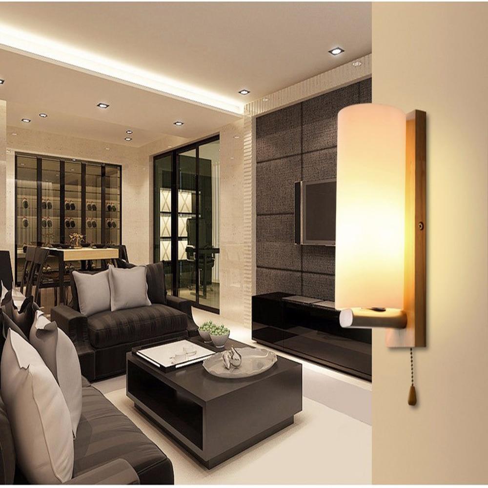 Led Wall Lamp Modern Sconce Stair Light Fixture Living Room Bedroom Bed Bedside Indoor Lighting For Home Hallway Loft Lamp