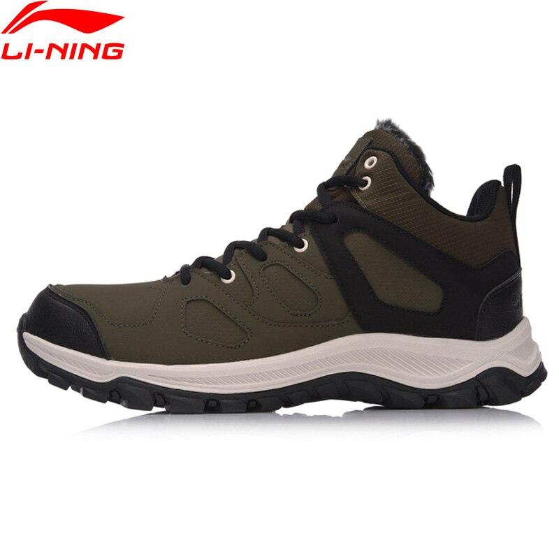 Li-Ning Здравствуйте ботинки походная обувь Классические Теплые Прогулочные кроссовки, зимняя теплая спортивная обувь с подкладкой, AGCM189 YXB101