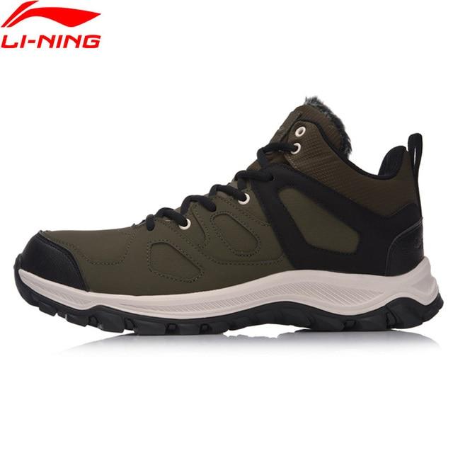 Li-Ning Men Boots Hi Hiking Shoes Classic WARM SHELL Walking Sneakers Winter Warm LiNing Sport Shoes AGCM189 YXB101