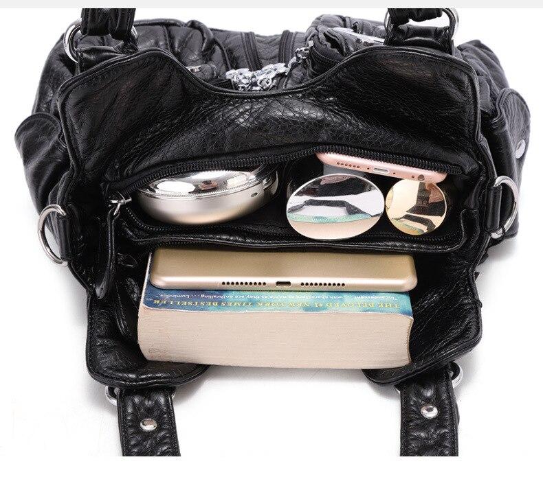 capacidade multi bolsos sacos do mensageiro das mulheres
