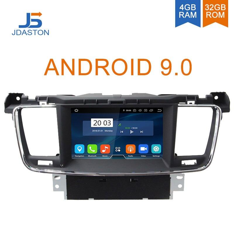 JDASTON Android 9.0 Jogador Do Carro DVD Para PEUGEOT 508 Stereo Navegação GPS multimedia Auto Áudio Rádio Octa Núcleos 4G + 32G Unidade Central