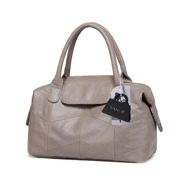2017 New Women Genuine Leather Boston Bag Europe Style Simple Handbag Fashion Trend Shoulder Bag office lady Tote handbag