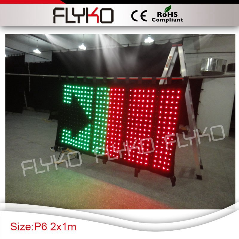Factory Price P60mm Low Cost High Definition 2m*1m Led Video Screen Led Curtain Commercial Lighting Stage Lighting Effect