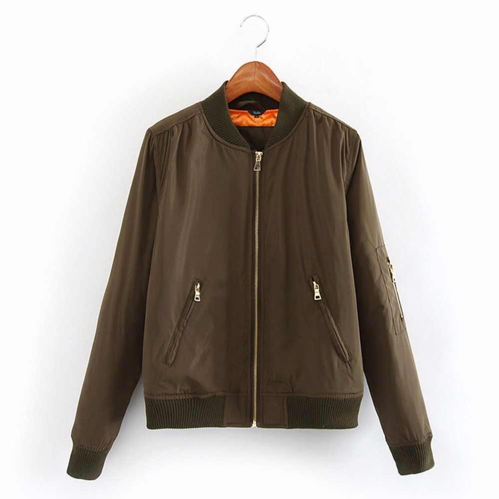 Frauen grundlegende bomber jacke padded quilten winter mantel langarm vintage taschen oberbekleidung casual tops CT1195