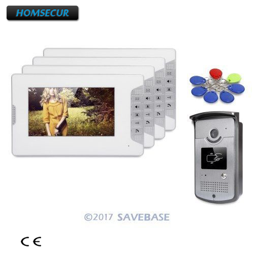 HOMSECUR 7 Video Door Entry Call System with Keyfobs Unlocking Camera for Home Security