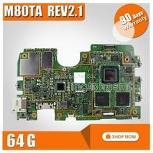Оригинальная материнская плата M80TA Rev2.1 для ASUS материнская плата планшетных ПК логическая системная плата VIVOTAB NOTE 8 логическая плата 32G/64G материнская плата памяти