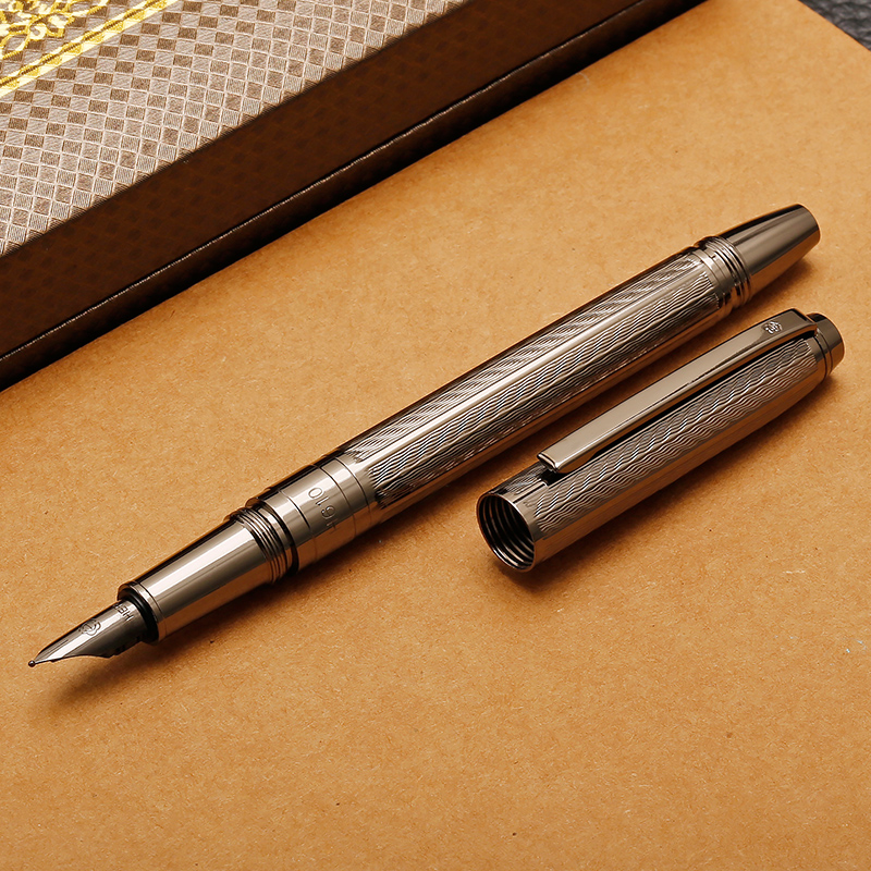 Free Shipping HERO 610 metal Brushed case Fountain pen Unique and stylish design stylish metal and canvas design satchel for women