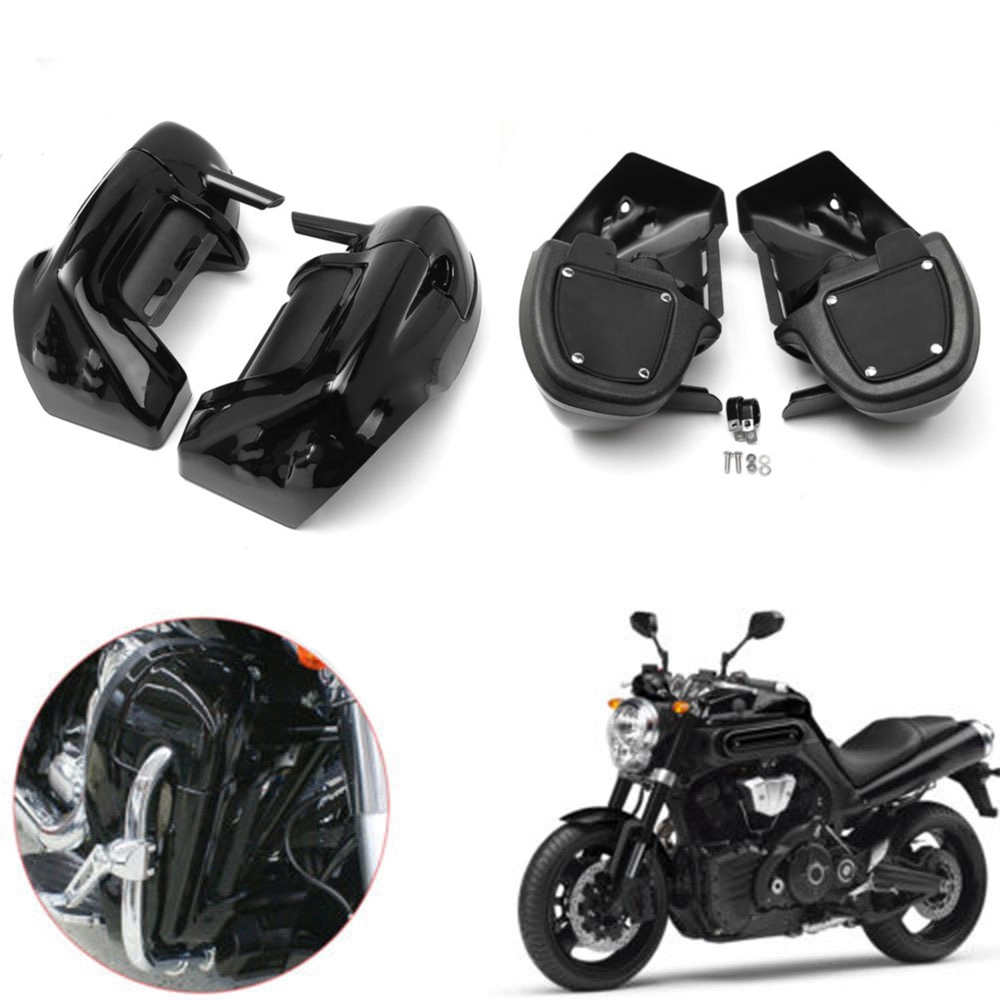 Black Lower Vented Leg Fairing w/ 6.5