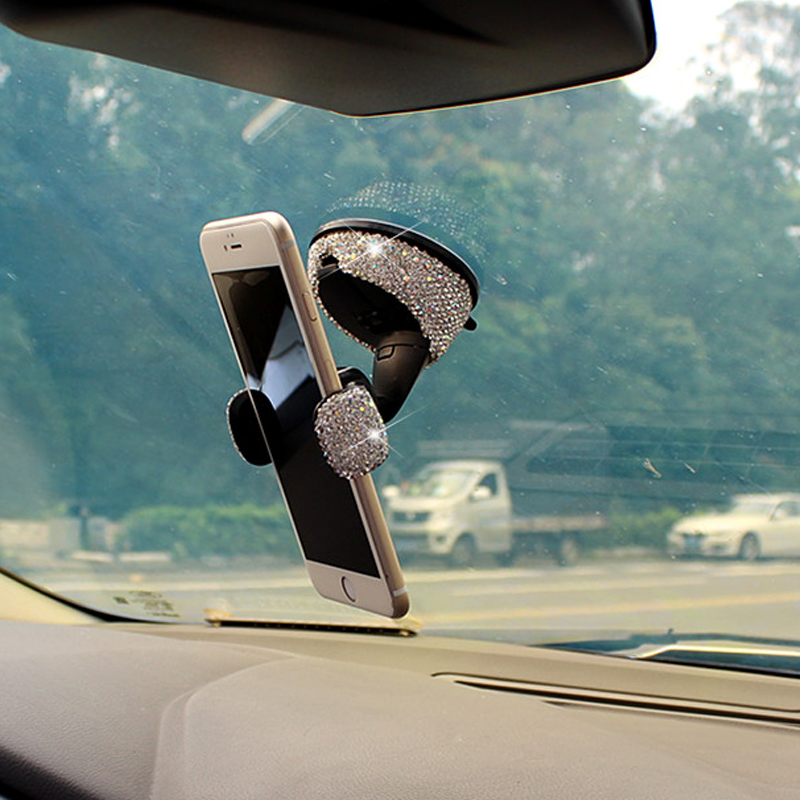 Image 5 - 3 in 1 360 Degree Car Phone Holder for Car Dashboard Auto Windows and Air Vent with DIY Crystal Diamond Type for BMW for Toyota-in Universal Car Bracket from Automobiles & Motorcycles