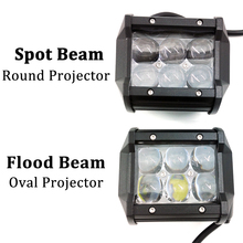 ECAHAYAKU 1Pcs 4D 4 inch 30W Led Light Bar Flood Spot UAZ ATV Truck Motorcycle 12V 24V 4x4 Bara Offroad Work fog Lights