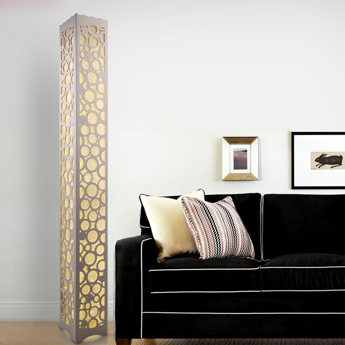 Modern Bedrooms With Contemporary Lamps: Modern Led Wooden Floor Lamp Bedroom Wood Led Floor Lamp