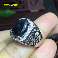 KJJEAXCMY Fine Jewelry 925 Silver Inlaid Colorful Natural Sapphire Ring 4 Kt Female Ring Wholesale And