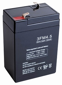 Free Shipping 6V 4 5Ah Lead Acid Battery Rechargeable Battery