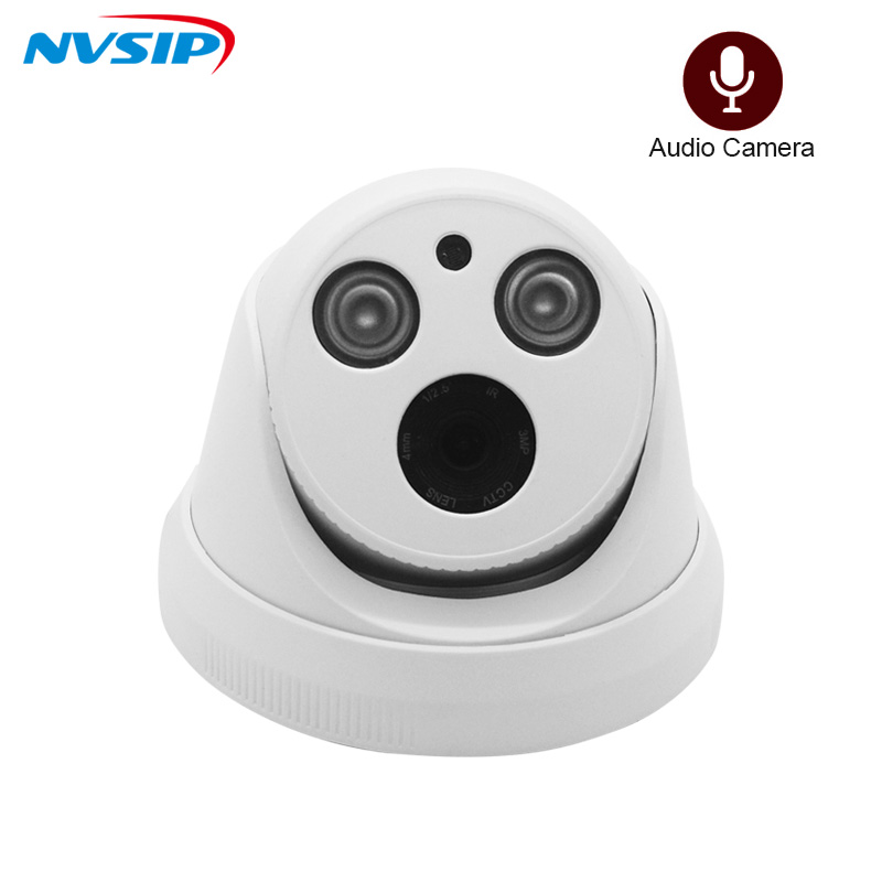 H.265+ Audio Sound Record IP Camera Indoor Dome 2.0MP 5MP Full HD Motion Detect RTSP FTP Onvif Night Vision