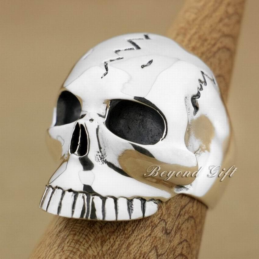 Здесь продается  Huge & Heavy 925 Sterling Silver Skull Mens Biker Ring 9M009A  Ювелирные изделия и часы