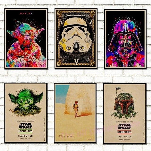 Vintage Star Wars плакат ретро Art Classic дом украшен фильм скрытая угроза Звездные войны крафт плакаты настенные наклейки/ 5002