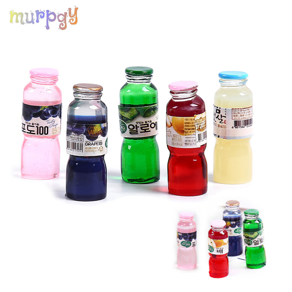 5Pcs Charms Addition For Filler Addition Kit Fluffy Slimes Polymer Juice Drink Bottle Resin Plasticine Beads Clay Toys Supplies