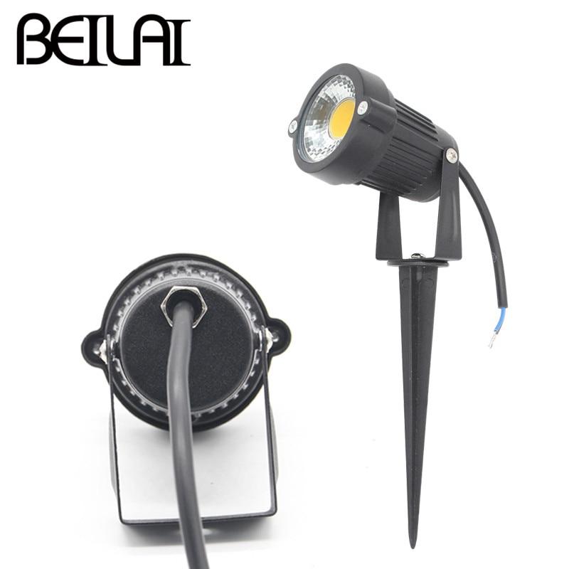 BEILAI 4PCS AC DC 12V 7W COB LED Lawn Lamp IP65 Waterproof Garden Lights AC  85