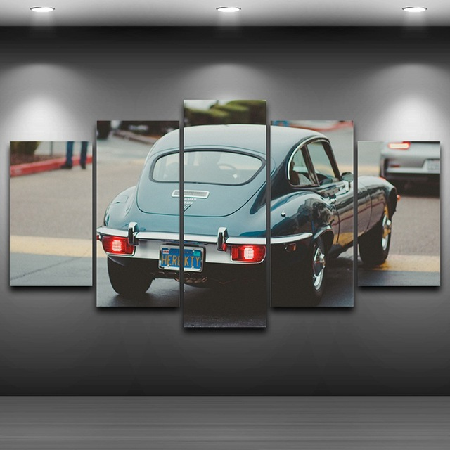 Old Car Spray Oil Painting Decoration Framed wall art up picture ...