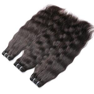 Волнистые индийские волосы, 1, 3, 4 шт./партия, 28, 30, 32, 34, 36 дюймов, натуральные прямые волосы, 100% натуральные волосы для наращивания