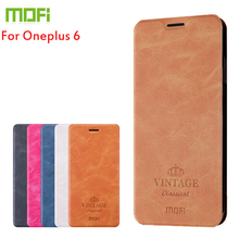 Cover For Oneplus 6 Case MOFI Flip Leather Stand Wallet Style PU 6.28 Shell